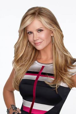 """Nancy O'Dell and her furry pet to star in celebrity paw-stume segment on """"Hub Network's First Annual Halloween Bash,"""" Oct. 26. (PRNewsFoto/The Hub Network) (PRNewsFoto/THE HUB NETWORK)"""