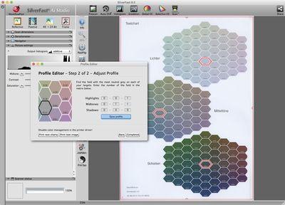 SilverFast Printer Calibration Screenshot, Editing Profiles, ICC, Color Space, Colormanagement, LaserSoft Imaging, Ai Studio, Archive Suite, Photo Print (PRNewsFoto/LaserSoft Imaging AG)