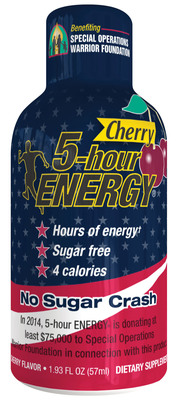 Living Essentials introduces cherry flavored 5-hour ENERGY(R); Sales to support the Special Operations Warrior Foundation.  (PRNewsFoto/Living Essentials, LLC)