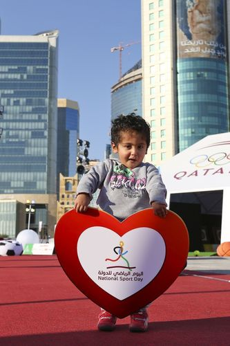 QATAR NATIONAL SPORT DAY 2014: Qatar comes alive for National Sport Day (PRNewsFoto/Qatar Olympic Committee)