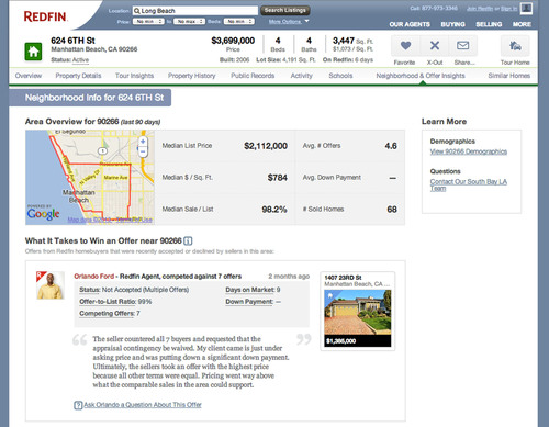 """Redfin's New Feature """"Offer Insights"""" Can Give Homebuyers an Edge in Bidding Wars. ..."""
