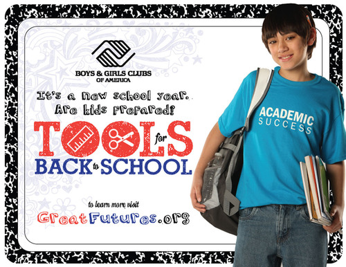 Boys & Girls Clubs of America Tools for Back-to-School. (PRNewsFoto/Boys & Girls Clubs of America) ...
