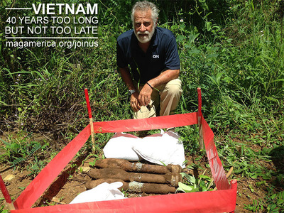 It's been 40 years too long, but it's not too late. Join Jonathan as he teams up with Mines Advisory Group (MAG) America and Clear Path International (CPI) in the most interesting campaign for Vietnam ever! www.magamerica.org/joinus.  (PRNewsFoto/MAG America)