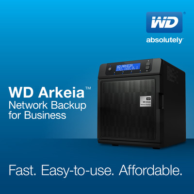 WD(R) EXPANDS WD ARKEIA(TM) NETWORK BACKUP APPLIANCE LINE.  (PRNewsFoto/WD)