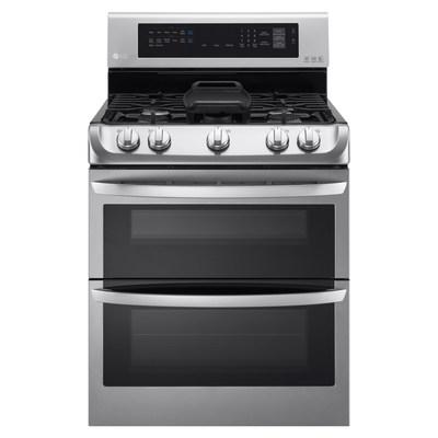 LG's ProBake Convection(tm) gas double oven range.