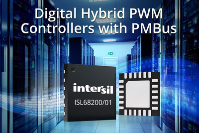 Intersil's easy-to-use ISL68200 and ISL68201 digital hybrid PWM controllers with PMBus deliver industry-leading transient performance
