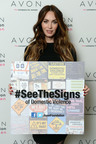 Megan Fox Helps Avon Launch #SeeTheSigns of Domestic Violence Campaign.  (PRNewsFoto/Avon Foundation for Women)