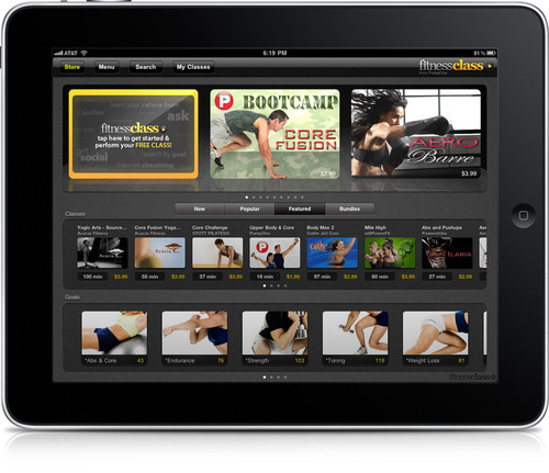 PumpOne Brings Hundreds of Premium Fitness Classes to iPad with New FitnessClass App