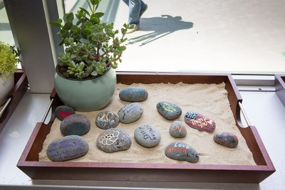 UCLA Health's Operation Mend uses healing arts to help veterans deal with post-traumatic stress disorder. These healing rocks have inspirational messages for future warriors who receive treatment through Warrior Care Network.