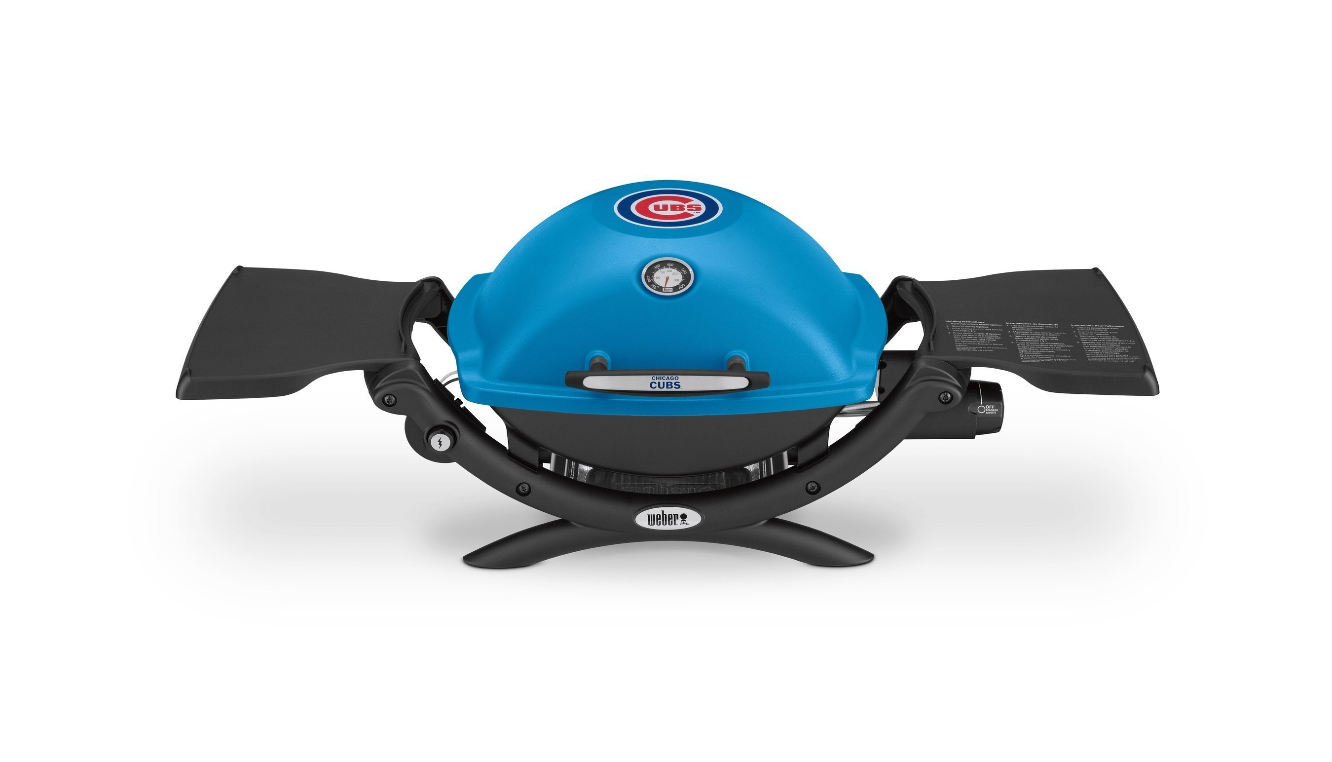 Chicago Cubs fans now have a new way to combine two of America's favorite pastimes with this first-ever official Cubs-branded gas grill.  The Weber Q Cubs grill is available at www.weber.com.