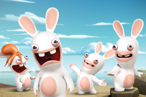 UBISOFT(R)'S WACKY, MISCHIEVOUS RAVING RABBIDS(R) INVADE NICKELODEON SATURDAY, AUGUST 3, AT 11:30A.M. (ET/PT) DURING BRAND-NEW ANIMATED SERIES PREMIERE RABBIDS INVASION.  (PRNewsFoto/Nickelodeon)