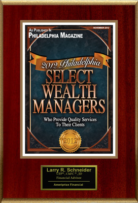 "Larry Schneider Selected For ""2012 Philadelphia Select Wealth Managers"".  (PRNewsFoto/American Registry)"