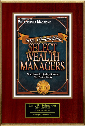 Larry Schneider Selected For '2012 Philadelphia Select Wealth Managers'