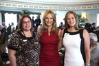 Actress Kelly Preston (center) visited with the Executive Director for the PACE Center for Girls, Lynn Mattiace (right) and PACE Board Member Laura Snell (left) at the inaugural Charity Coalition Luncheon at the Fort Harrison, the International Religious Retreat for the Church of Scientology. The PACE Center was one of 38 different non-profit groups represented. (PRNewsFoto/Church of Scientology)