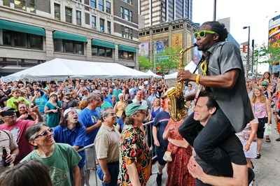 Crowds enjoy the annual Denver Day of Rock over Memorial Day Weekend.