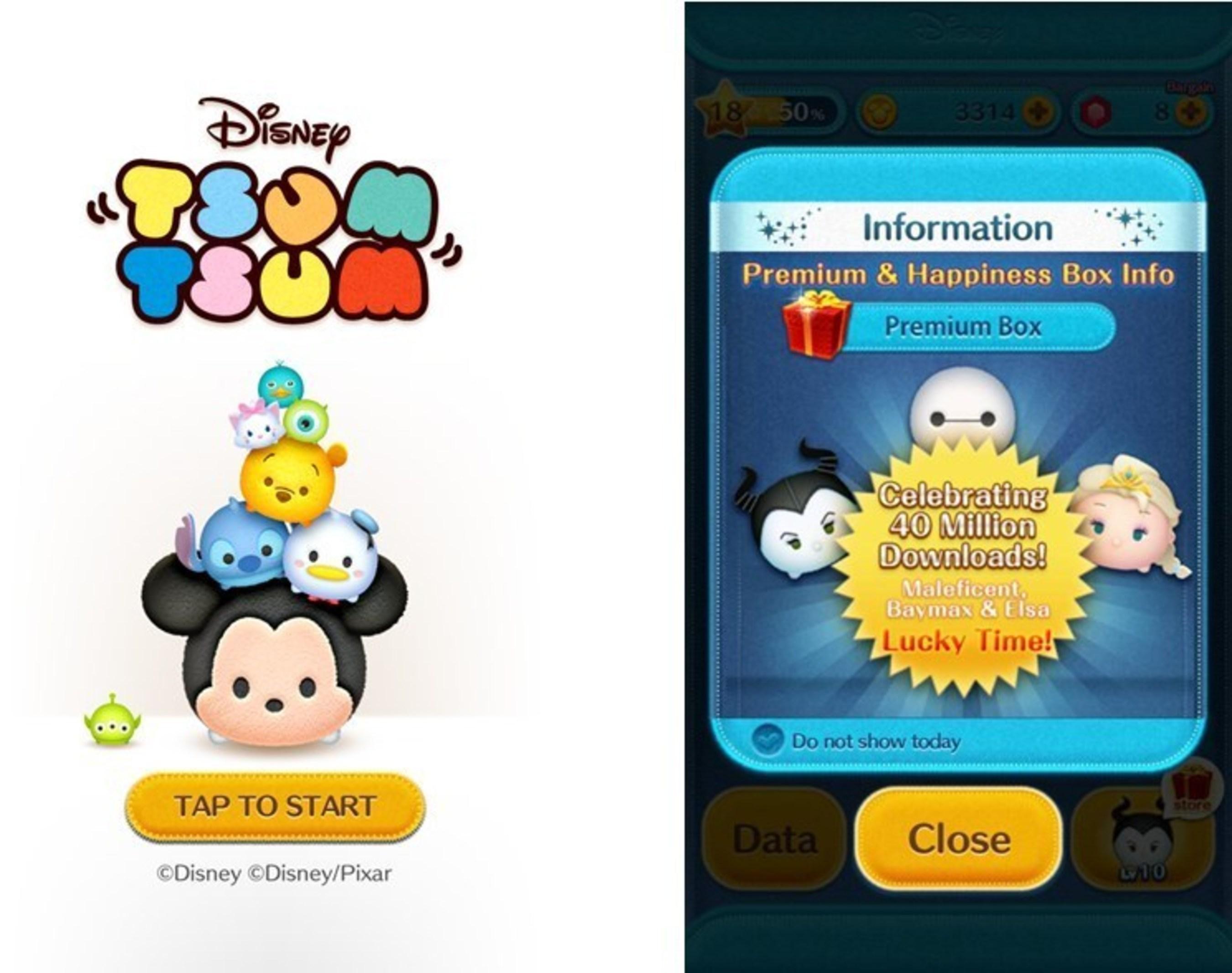 Casual Puzzle Game LINE: Disney Tsum Tsum Reaches 40 Million