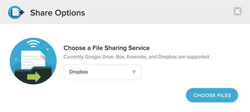 UberConference users can share any document in a DropBox account with everyone on the call. (PRNewsFoto/UberConference) (PRNewsFoto/UBERCONFERENCE)