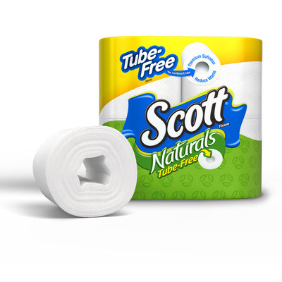 The release of Scott Natural's Tube-Free bath tissue has a major potential to eliminate a portion of the 17 billion toilet paper tubes thrown away each year, which is enough to fill the Empire State Building twice. (PRNewsFoto/Kimberly-Clark)