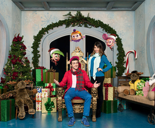 Drake Bell (Drake & Josh) and Daniella Monet (Victorious) star in a brand-new live-action/CG movie, A Fairly Odd Christmas, premiering Thursday, November 29, at 7 p.m. (ET/PT) on Nickelodeon.  (PRNewsFoto/Nickelodeon, Ed Araquel/Nickelodeon)