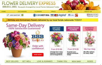 "FlowerDeliveryExpress.com a leading online flower delivery company has received the Highest and Best, Five Star Rating from Shopper Approved, an independent review site that only accepts reviews from actual shoppers. Price, Product, Satisfaction and Customer Service are just a few of the areas that were analyzed.  FlowerDeliveryExpress.com has also received ""Best"" or ""Top Florist"" ratings over thirty times from a variety of sources or publications.  Also rated A  by the Better Business Bureau.  (PRNewsFoto/FlowerDeliveryExpress.com)"