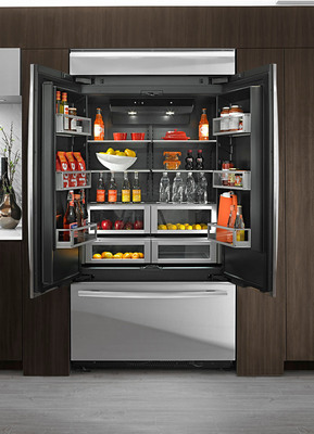 New jenn air refrigerators offer luxury inside and out for Jenn air obsidian refrigerator