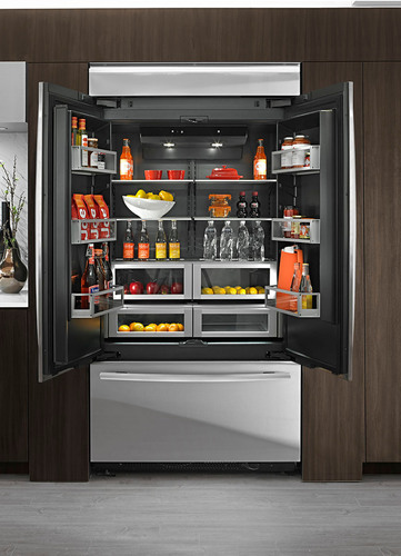 New jenn air refrigerators offer luxury inside and out for Obsidian interior refrigerator