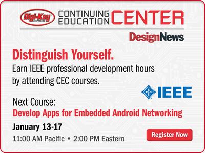 Design News Announces Expanded CEC Courses for 2014.  (PRNewsFoto/UBM Canon)