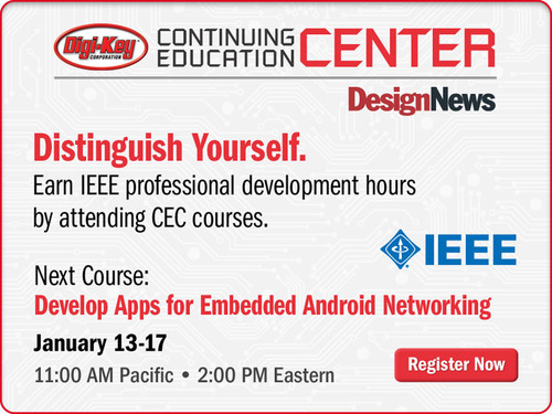 Design News Announces Expanded CEC Courses for 2014. (PRNewsFoto/UBM Canon) (PRNewsFoto/UBM CANON)