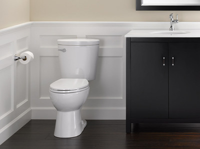 Delta Faucet Corrente Toilet with SmartFit Technology, only at The Home Depot.  (PRNewsFoto/Delta Faucet Company)