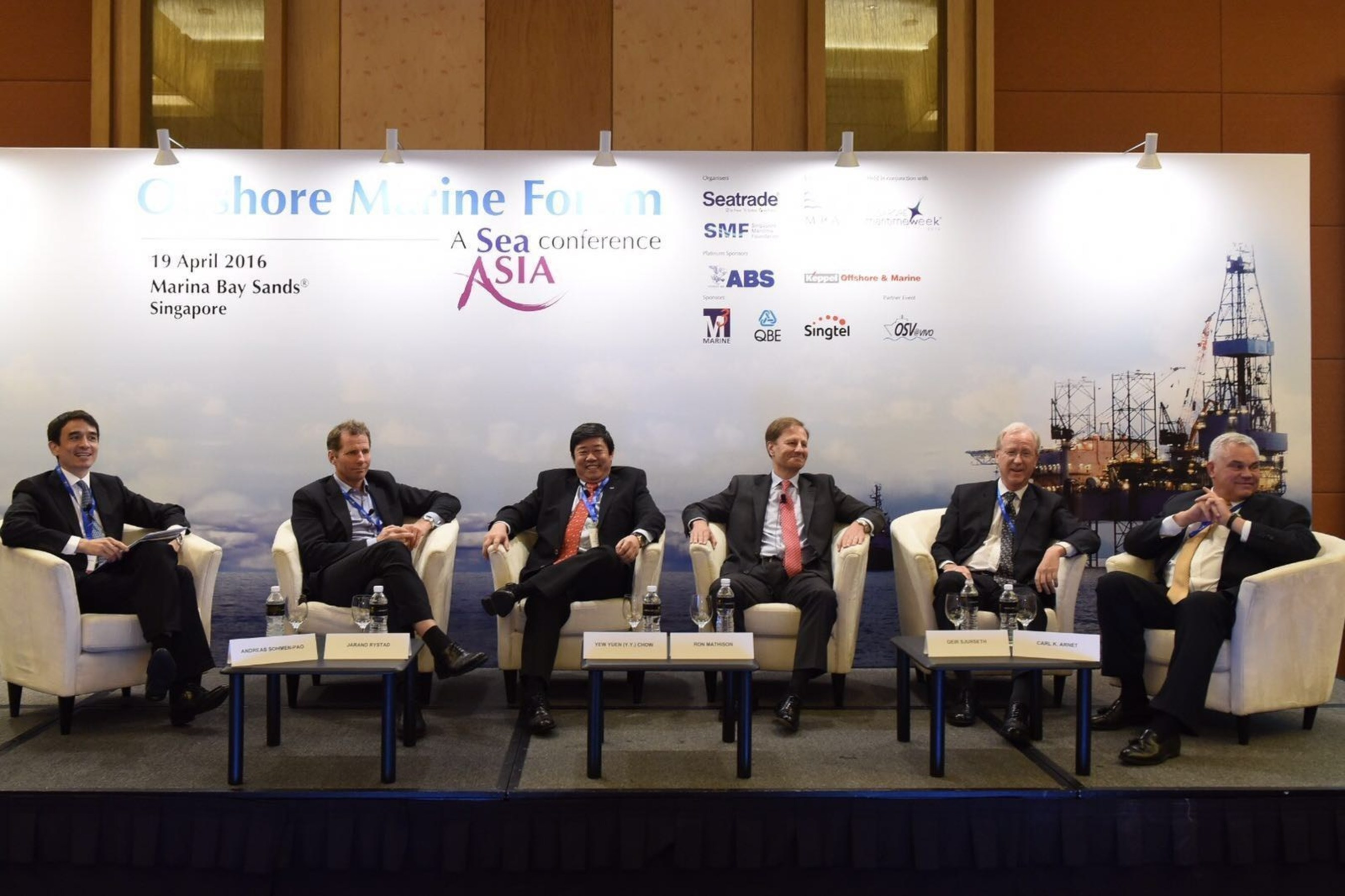 Panellists at the Offshore Marine Forum 2016