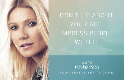 Restorsea Ad Campaign featuring Gwyneth Paltrow
