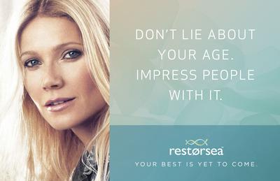 Restorsea Ad Campaign featuring Gwyneth Paltrow.  (PRNewsFoto/Restorsea)