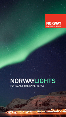 Hunt the Northern Lights with the new app NorwayLights from Visitnorway. (PRNewsFoto/Visitnorway)