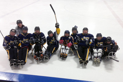 Paralympic Sports Association - Victory for the Blades team after their sledge hockey game!