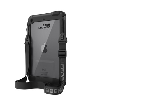 Setting the LifeProof fre and nuud apart even further is the unique ecosystem of accessories available. A removable shoulder strap is included for hands-free carrying and LifeProof offers both nuud and fre-compatible accessories, including a screen cover that doubles as a stand, a floating LifeJacket and a mounting cradle.  (PRNewsFoto/LifeProof)