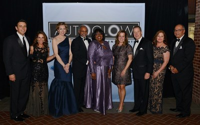 Mark and Jane Fields, President and CEO, Ford Motor Company, Renee Godfrey, Corporate Alliances Manager, Ford Motor Company; Danny Matthews, Debora Matthews, CEO, The Children's Center; Lisa Ford, Bill Ford, Executive Chairman, Ford Motor Company; Tammy Zonker, Chief  Philanthropy Officer, The Children's Cent...