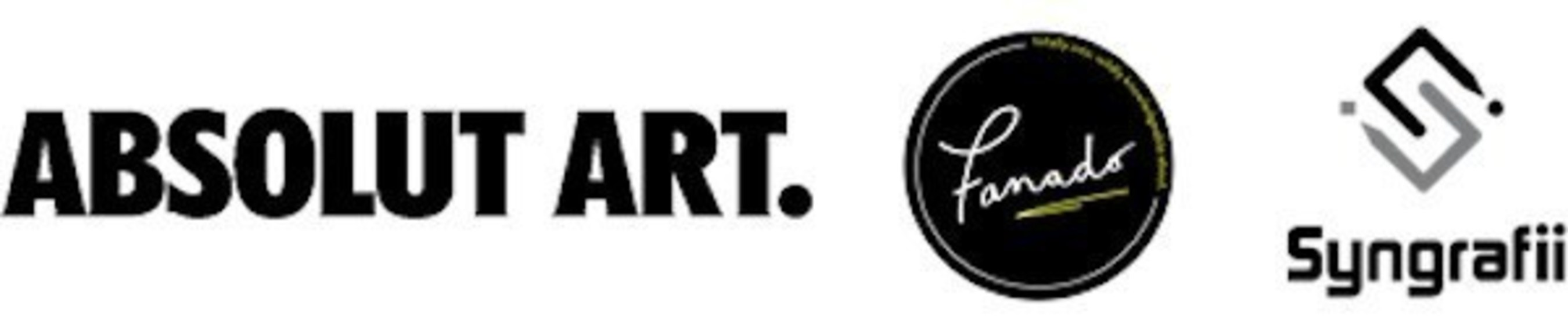 Absolut Art, Fanado, and Syngrafii logos