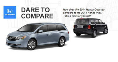 The Odyssey and the Pilot are two of the most spacious offerings in the Honda lineup. (PRNewsFoto/Benson Honda)