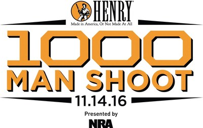 Less than one week after the 2016 Presidential election Henry Repeating Arms and the National Rifle Association will host the Henry 1000 Man Shoot to waste no time in raising funds to continue their efforts to uphold the 2nd Amendment.