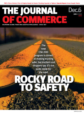 Motor carriers were granted a slight grace period to review their Federal Motor Carrier Safety Administration safety performance scores before they are made public on Dec. 12, reported The Journal of Commerce on Friday. In this week's Cover Story, the JOC examines the concerns and mis-information surrounding implementation of the agency's Comprehensive Safety Analysis 2010 initiative. (PRNewsFoto/The Journal of Commerce)