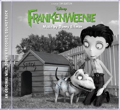 Frankenweenie soundtrack cover.  (PRNewsFoto/Walt Disney Records)