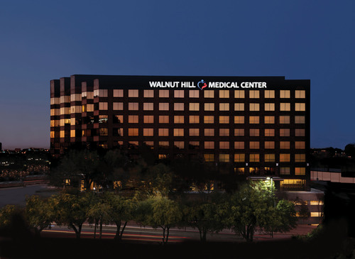 Walnut Hill Medical Center, a new 100-bed full service hospital located in Dallas, Texas, will see its first patient in April 2014. The 200,000 square-foot facility marks the dawn of a new era in health care delivery in Dallas, one designed entirely from the patient's perspective and enhanced by the best practice experience of the hospital's renowned medical staff. (PRNewsFoto/Walnut Hill Medical Center) (PRNewsFoto/WALNUT HILL MEDICAL CENTER)