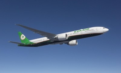 EVA Air added its 22nd Boeing 777-300ER today and revealed a new livery.
