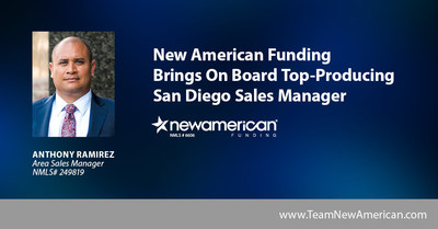 New American Funding Brings On Board Top-Producing San Diego Sales Manager.
