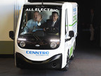 """Governor Brian Sandoval """"NV"""" and Sparks Major drive Job One of the All Electric Utility Truck by Cenntro Automotive"""