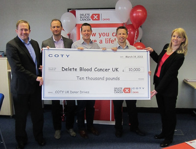 Coty Inc. Supports Delete Blood Cancer UK.  (PRNewsFoto/Coty Inc.)