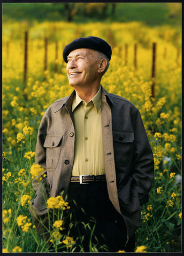 "Vintner Hall of Fame inductee Miljenko ""Mike"" Grgich surrounded by his vineyards in Rutherford, CA. A ..."