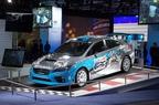 Subaru Debuts First 2015 Rallycross STI at the New York International Auto Show. (PRNewsFoto/Subaru of America, Inc.)