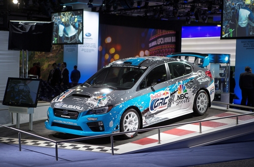 Subaru Debuts First 2015 Rallycross STI at the New York International Auto Show. (PRNewsFoto/Subaru of America,  ...