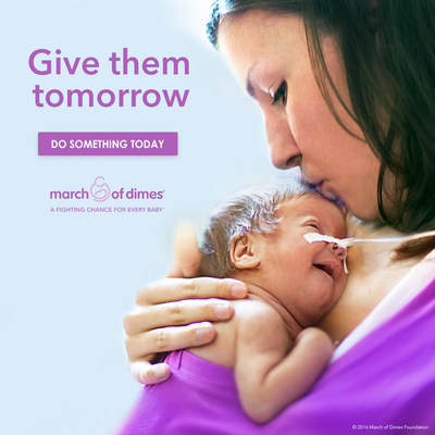 WHITE PLAINS, N.Y., SEPT. 7, 2016 -- Give them tomorrow is a new campaign from the March of Dimes to raise awareness and funding to fight birth defects and premature birth, the #1 killer of babies in the United States.